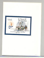 St Vincent #1873 Airship Pioneer Eckener 1v S/S Imperf Proof Mounted in Folder