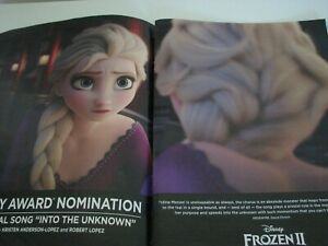 Frozen 2 Elsa Looking at herself  RARE 2 page OSCAR AD  Brand New