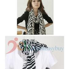 150cm Fashion Women Zebra Animal Print Shawl Lady Long Zebra Large Stripe Scarf