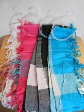 Set of 4 Lightweight La Moda Scarves. Pink, Blue, White, Black. New