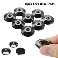 8Pcs Stainless Steel Hifi Speaker Spike Desk Feet Base Pad Improve Sound
