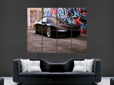 HONDA Acura NSX Nero Poster Auto Graffiti Street Art Immagine Enorme Muro di grandi dimensioni