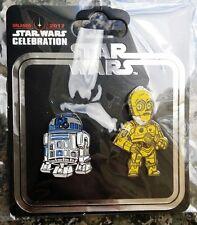 Star Wars Celebration C3po R2d2 pin set swag ON HAND