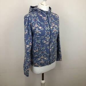 Womens Patagonia Floral Organic Cotton Full Zip Jumper Hoodie Sz Small