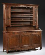 French Louis XV Style Carved Oak Vaisselier, 19th c., the stepped rou... Lot 119