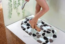 NEW PVC Anti Slip Shower Mat Massage Pebble Non Slip Safety Tube Bathroom Home