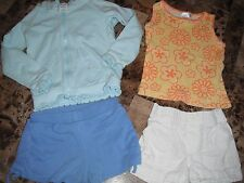 girls 4 Pc Lot size 3T circo jacket Blue White Shorts yellow orange tank top