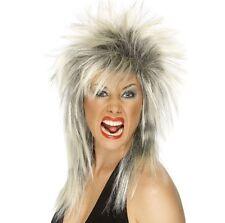 Señoras 80 Ochenta 80's Rock Diva Fancy Dress Peluca blonde/roots Nueva por Smiffys