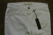 JOE'S STRAIGHT Ankle JEANS 26X28 NWT$189 Stretch! Sexy Summer White! Made in USA