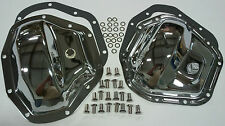 Chrome Ford Super Duty F-350 F-450 Dually F & R Differential Cover Kit 4 x 4
