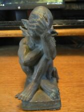 """Vintage Gargoyle Statue 90s 5 1/2"""" high by 4 1/2"""" long and 2 1/2"""" wide."""