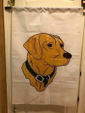 Dog, Labrador Retriever, Outdoor 28x44 Applique House Flag