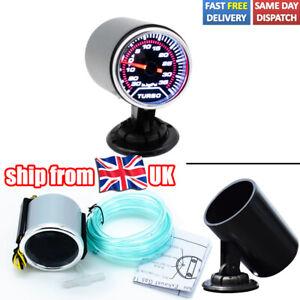 """2"""" 52mm Turbo Boost Gauge Vacuum Pressure Display LED With Mount Holder Meter UK"""