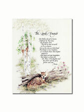 The Lord's Prayer Deer Woods Christian Religious Wall Picture 8x10 Art Print