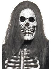 Scheletro Maschera con parrucca zombie costume Halloween