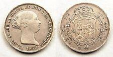 España-Isabel II. 20 Reales. 1850 Madrid. MBC/VF. plata 26 g. Muy escasa y bella
