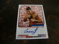 2009 Topps UFC Ultimate Fighter---Autograph---#TUF-CD Cameron Dollar
