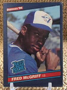1986 Donruss Fred McGriff Rookie Card #28