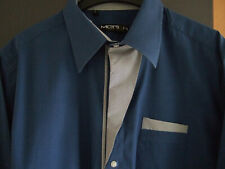 Langarm Hemd Gr. L blau von Merish Sportswear