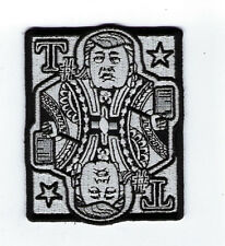 PRESIDENT DONALD CARD HAT PATCH BIKER PIN UP US PRESIDENTIAL The Deplorables WOW