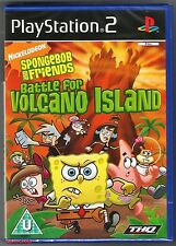 PS2 SpongeBob And Friends Battle For Volcano Island, New & Sony Factory Sealed
