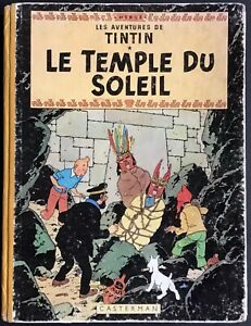 TINTIN Le Temple du Soleil B12 1955 État correct