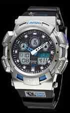 Pasnew SPORTS Watch, Dual Time Digital/Analog,100M waterproof - Silver Black/NEW