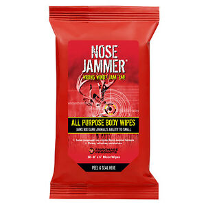 Nose Jammer All Purpose Body Wipes 8x6in 20 Pack