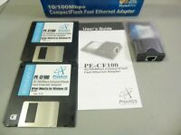 Rare Vintage Pharos PE-CF100 Compact Flash Fast Ethernet Adapter for Pocket PCs