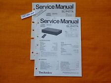 SERVICE MANUAL Technics SL P477A english Reparatur Anleitung Schaltplan