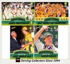2007-08 Select Cricket Trading Card Honour Award Subset Card Full Set (4)