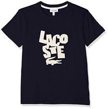 Designer LACOSTE Boys 100% Cotton Logo T-Shirt  Navy Blue short sleeved