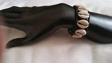 Tribal cowrie shells bracelet