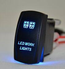 Laser Rocker Switch Backlit Car LED work light Blue 5Pins On-Off 20A 4x4 Offroad