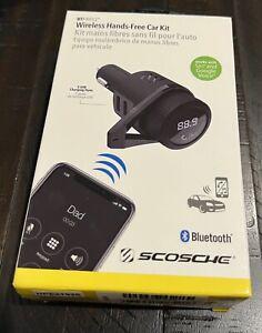 SCOSCHE BTFREQ Wireless Hands Free Car Kit Bluetooth + 2 USB Charging Ports