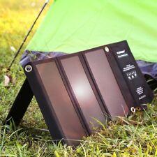FLOUREON Camping Solar Charger 21W Solar Panel Dual USB Port Waterproof Foldable