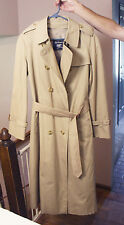 Vintage Classic Womens Burberry Trench Coat Size 12 Petite Ladies England