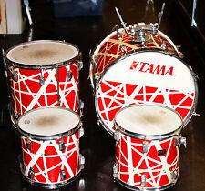 Vintage Tama SwingStar--1984 Alex Van Halen Red & White-4 PC Drum Kit Bass/Toms