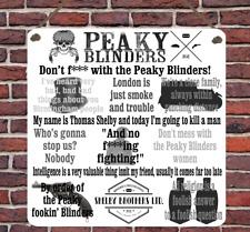 Peaky Blinder show televisivo preventivi in metallo Appeso Placca Insegna Parete Shelby Regalo