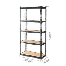 5-Tier Shelving Unit Heavy Duty Shelves Book Storage Shelf Rack Stand 200KG/tier