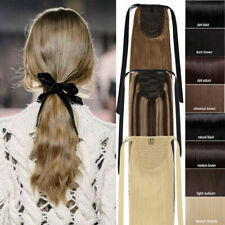 TOP Straight Drawstring Clip in Ponytail 100% Real Remy Human Hair Extensions