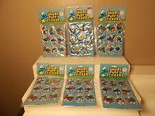 6 Packs Vintage 1980 SMURF Puffy Stickers NEW Papa Smurfette # 8 # 2 # 3 rare