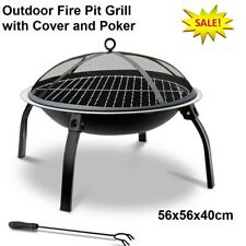 Portable Fire Pit Grill Cover Poker Camping Outdoor 4WD Camp Fire BBQ Heater
