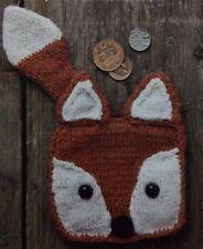 Woodland Fox Coin Purse 4 Ply KNITTING PATTERN - 11x14cm