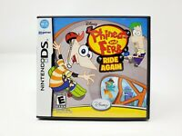 Phineas And Ferb Ride Again (Nintendo DS, 2009) NDS 3DS CIB Complete Authentic