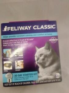 Feliway Classic 30 Day Starter Kit Plug In Diffuser & Refill 48 ml Exp  12/2022