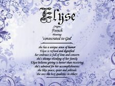"""""""Ornate Purple"""" Name Meaning Prints Personalized (Decorative)"""