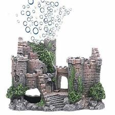 Castle Aquarium Decorations Fish Tank Ornaments with Moss for with airstone