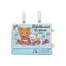 San-X Children Pouch / Belt bag - Rilakkuma & Strawberries in Paris CT84701