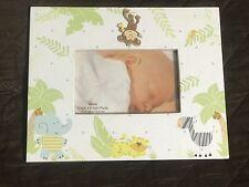 Baby Child Nursery Lion Elephant Zebra Monkey Trees Bird Gift Boy Girl Frame #11